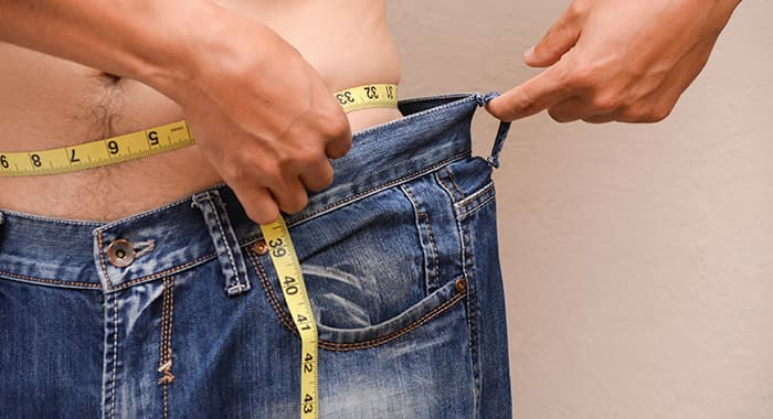 measuring waist size for weight loss